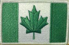 CANADA Flag Iron-On Morale Patch Green Kelly & White Version, White Border #13