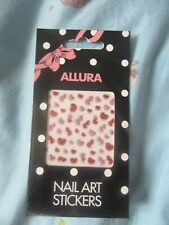 Allura nail art glitter hearts pink red heart sparkle stickers new fancy nails