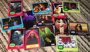 13 STAR WARS Journey To The Force Awakens Topps 2015 Cards FOIL FINN CHEWBACCA