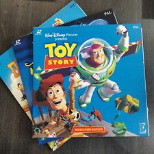 Disney Laserdisc Bundle X3 - Toy Story - Dumbo - Aladdin King Of Thieves