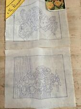 2 Nu Venture, Az Original Needlepoint Canvases Prickly Pear Cactus & Other 12 Ct