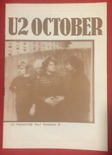 U2 NUMBER ONE Magazine Pre-Propaganda November 81 Genuine Official Promo