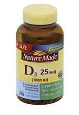 Nature Made Vitamin D3 25mcg Gluten Free 300 ct Exp12/21