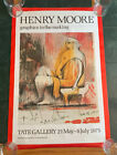 1975 HENRY MOORE TATE GALLERY LONDON GRAPHICS IN THE MAKING EXHIBIT POSTER RARE