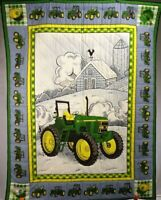 """New Handmade Baby Quilt / Wall Hanging featuring """"John Deere 7410 Tractor"""" 45"""" H"""