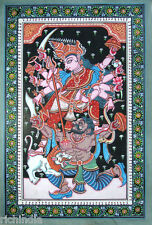 Hindu Goddess Durga Hand painted miniature Painting Tantric Art Gallery