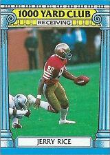1987 Topps 1000 Yard Club Jerry Rice San Francisco 49ers #2 Football Card