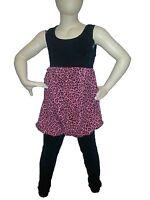 Girls Leopard Print Puff Ball Dress