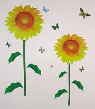Teen Children Kid Girl Sunflower Flower Butterfly Wall Sticker Decal Bedroom