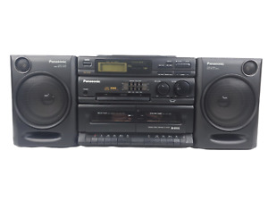 Panasonic RX-DT610 BoomBox AM/FM Radio CD Tape Tested & Working Free Shipping!