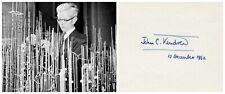 1962 Nobel Prize in Chemistry JOHN KENDREW Orig Autograph from 1962!