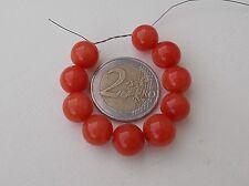 10 perles semi-précieuses de 10 mm jade teinté rouge sang  & -50% SUR 2ème lot