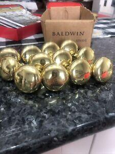 Baldwin Estate Round Door Knob Polished Brass knobs