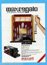 QUATTROR982-PUBBLICITA'/ADVERTISING-1982- MAXELL CASSETTE UD