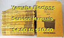 Yamaha Electone Organ Service Manuals: 105 through 215U, 215-I, 215U-Tr (Pick 1)