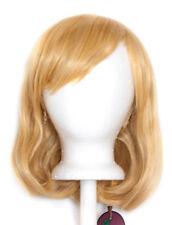 12'' Short Fluffy Bob Cut with Short Bangs Butterscotch Blond Cosplay Wig NEW