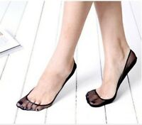 Women Lace Antiskid Invisible Liner No Show Slippers Peds Low Cut Sock 2 Pairs