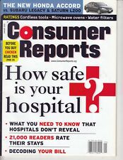 Consumer Reports January 2003 - How Safe is Your Hospital ? Honda Accord  VS.