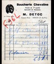"""DINAN (22) BOUCHERIE CHEVALINE """"M. DETOC"""" en 1955"""