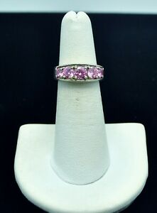 STERLING SILVER PINK STONE RING 4.5#FMP606
