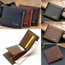 Men's Faux Leather Short Wallet ID Credit Card Holder Billfold Purse Clutch
