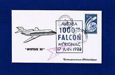 FDC-FALCON 50 B-DASSAULT-MÉRIGNAC-BORDEAUX-1000 eme FALCON-MYSTÈRE 30-1988