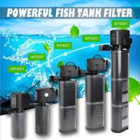 Aquarium Internal Filter Pump Submersible Fish Tank Pond Filtration Water Pump