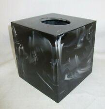 Kassatex Ducale Black Resin Tissue Holder
