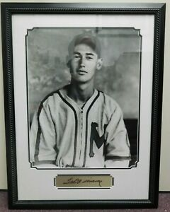 Ted Williams Minneapolis Millers Baseball ~ Framed Photo with Replica Signature