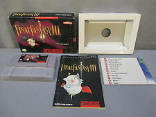 FINAL FANTASY III (Super Nintendo, SNES 1994) Complete Box, Manual & Maps  FF 3