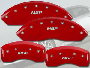 """2009-2012 FX35 Front + Rear Red Engraved """"MGP"""" Brake Disc Caliper Covers 4pc Set"""