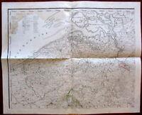 Flanders Belgium Zeeland oversized huge c.1800-30 engraved multi-sheet old map