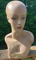MANNEQUIN HEAD & Partial Bust, Female, African American, Beverly Johnson 18.5""
