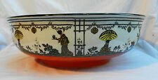 Very Large Antique Art Nouveau Wedgwood & Co Japanese Design Bowl c 1906