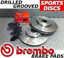 Mondeo mk3 2000-2004 Drilled & Grooved FRONT + REAR Brake Discs BREMBO Pads Ford