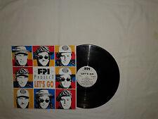 """FPI Project – Let's Go - Disco Mix 12"""" 45 Giri Vinile ITALIA 1991 EuroHouse"""