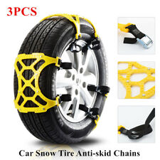 3X Car Snow Tire Anti-skid Chain Thickened Beef Tendon Wheel Chain Mud Road Part