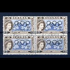 BAHAMAS 1964 Olympic. Ovpt. SG 245. Fine Used Block of Four. (BH323)