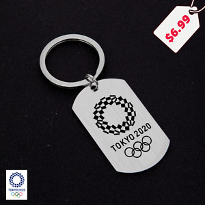 Tokyo Olympic Games 2020 2021 Official Key Chain Key Tag Gift Souvenir Stainless