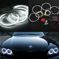 4x LED CCFL Angel Eyes Halo Rings lights Xenon Blanco para BMW E36 E39 E46 8000K