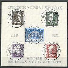 """SBZ Block 3A gestempelt """"Weimar Nationaltheater"""""""