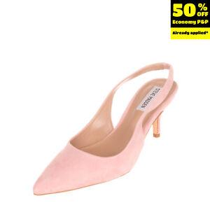 STEVE MADDEN Suede Leather Slingback Court Shoes Size 36 UK 3 US 6 Kitten Heel