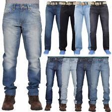 Mens Denim Jeans Cotton Regular Fit Straight Leg Trousers Pants Big & Tall Sizes