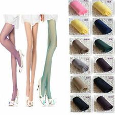 Women Fashion Sexy Sheer Thin Pantyhose Stockings Tights Candy Color Solid
