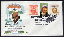 2010 Mother Teresa & Mahatma Gandhi of India- Latter Day Fluegel COMBO FDC PN549