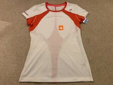 New Balance NBX adapter ladies fitness top in white/pink - small - brand new