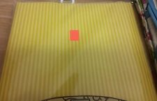 "PEVA Vinyl Tablecloth 52"" x 70"" Oblong (4-6 people) GOLDEN YELLOW STRIPES design"