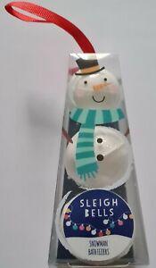 Christmas Sleigh Bells Snowman Bath Fizzers Bombs Set Stocking Filler Decoration