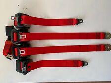 Juego de 5 cinturones de seguridad Rojos Volkswagen Golf MK2 GTI G60 3p seatbelt