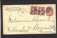 LEXINGTON,MISSISSIPPI 1884,#210 TRANSATLANTIC COVER TO GERMANY,VIA ENGLAND.